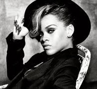 Rihanna Black and White Picture