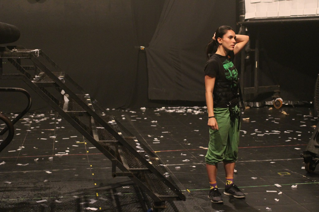 Fuerza Bruta Dancer Rehearsal